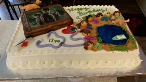 Birthday life story cake.